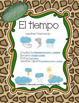Safari Weather Chart (SPANISH)