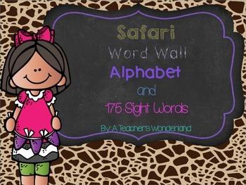 Safari Word Wall and Sight Words