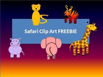 Safari clip art FREEBIE