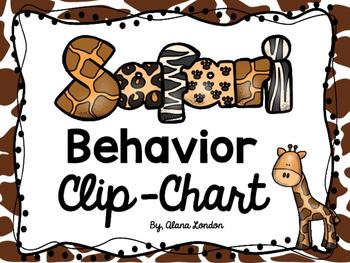 Safari or Jungle-Themed Behavior Clip Chart