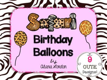 Safari or Jungle-Themed Birthday Balloons