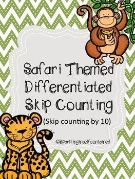 Safari themed skip counting by 10