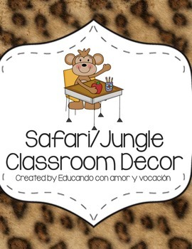 Safari/Jungle Classroom Decor in SPANISH