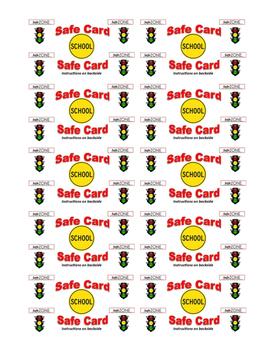 Safe Zone Emergency Card
