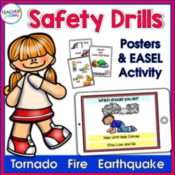 Fire Safety, Earthquake Safety & Tornado Safety Posters for K-3