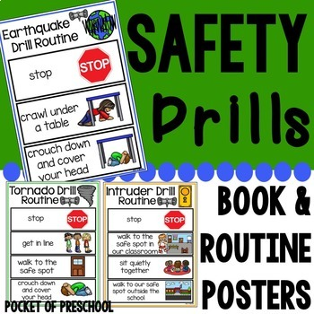 Safety Drills Books & Routine Posters (Earthquake, Tornado