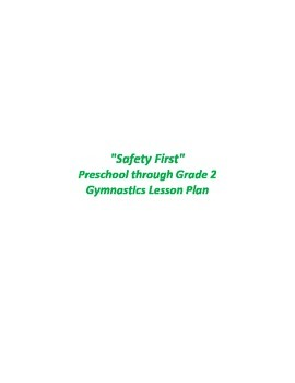 Safety First Gymnastics Lesson Plan