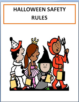 Safety- Halloween Safety Rules- Lesson,Cut and Paste safet