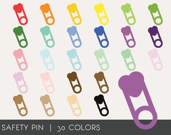 Safety Pin Digital Clipart, Safety Pin Graphics, Safety Pin PNG