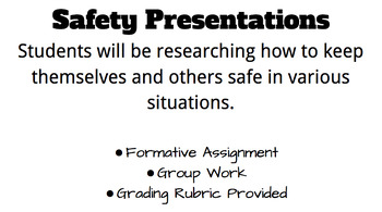 Safety Presentations- Group Work