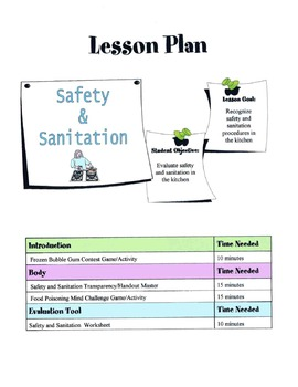 Safety & Sanitation Lesson