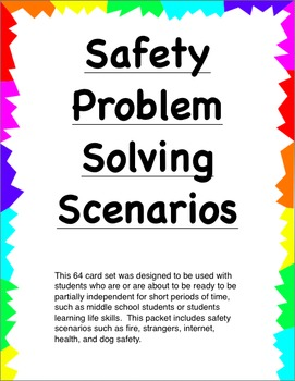 Safety Scenarios Problem Solving Cards