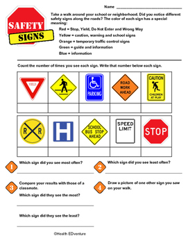 Safety Signs Survey: Math Fun