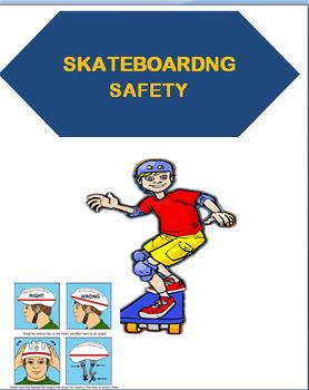 "Safety- ""Skateboarding Safety""-Lesson plan, quiz, Art proj"