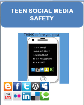"""""""Teen Social Media Safety"""" Lesson plan, writing prompt"""
