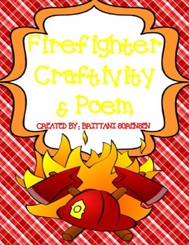 Safety Unit: Firefighter Craft & Poem