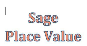 Sage Place Value Lesson 1