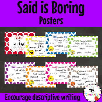 Said Is Boring - Synonym Posters for Writing