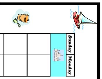 Sailboat Calendar! Sailing Theme! Sailing Bulletin Board!