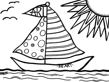Sailboat Coloring Sheet