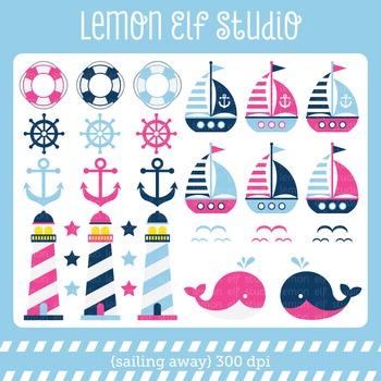 Sailing Away-Digital Clipart (LES.CL13B)