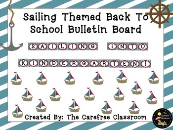 Bulletin Board Set: Sailing Themed Back To School Board