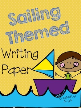 Sailing Themed Writing Paper