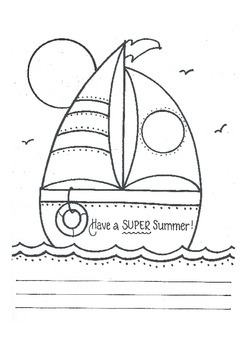 Sailing into Summer..(write your own note)