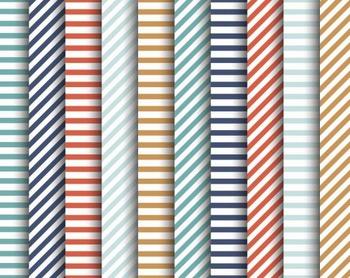 Sailor Stripes Papers, Sailor, Stripes, Set #237