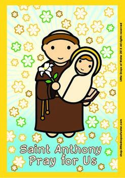 Saint Anthony Poster - Catholic