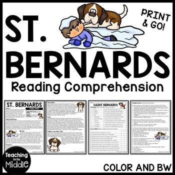 Saint Bernards Informational Text Reading Comprehension Ca