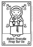 Saint Francis Coloring - Catholic
