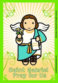 Saint Gabriel Poster - Catholic