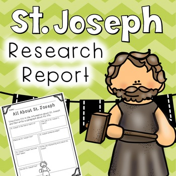 Saint Joseph/ St. Joseph Research Report - FREEBIE