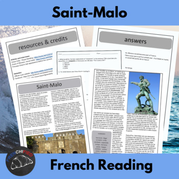 Saint-Malo: Ville Corsair.  Reading and activities for int
