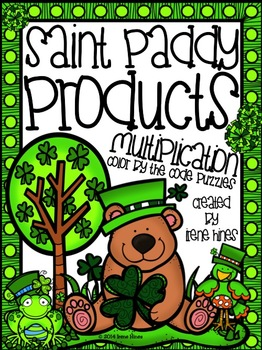 Saint Paddy Products ~ Multiplication Color By The Code Pu