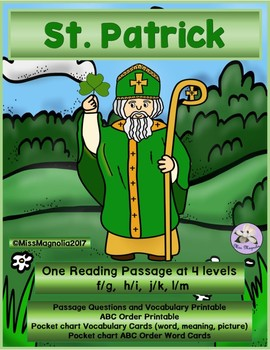 Saint Patrick Multi-level Reading Passage
