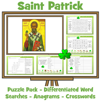 Saint Patrick's Day Activity Pack - Anagrams, Word Searche