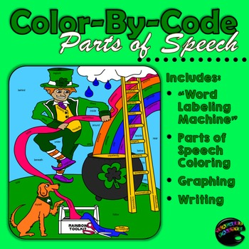Saint Patrick's Day: Color-By-Code Parts of Speech; Graphi