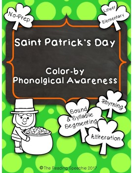 Saint Patrick's Day Color By Phonological Awareness