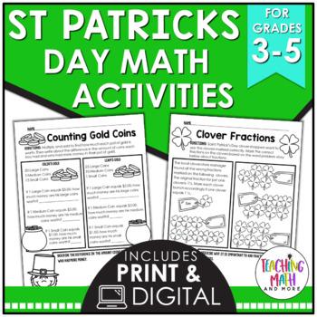 Saint Patrick's Day Elementary Math Activities