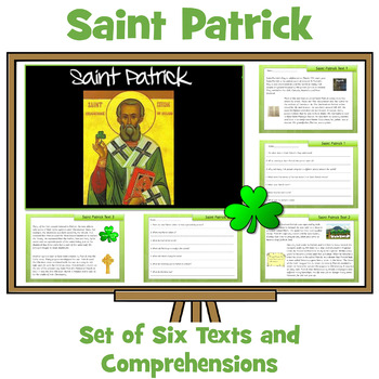 Saint Patrick's Day Information Sheets and Comprehension Q