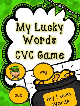 Saint Patrick's Day Literacy Center -- Lucky CVC Word Game