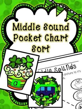 Saint Patrick's Day Literacy Center -- Middle Sounds Pocke
