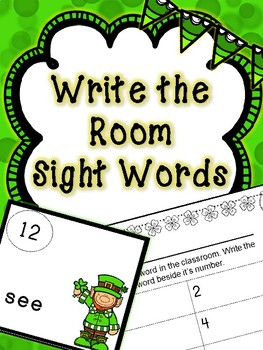 Saint Patrick's Day Literacy Center -- Write the Room-- Si