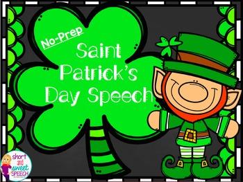 Saint Patrick's Day Speech: No-Prep Articulation