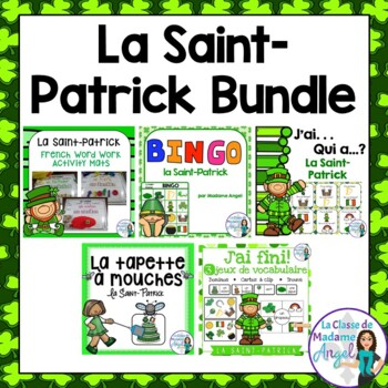 Saint Patrick's Day Themed Vocabulary BUNDLE in French