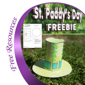 Saint Patrick's Leprechaun Hat Printable Craft