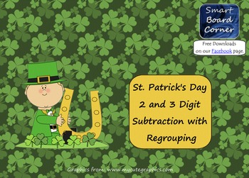 Saint Patrick's Day 2 and 3 Digit Subtraction with Regroup
