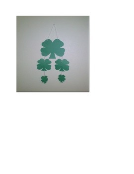Saint Patricks Day 4 Leaf Clover 4 sizes from large to sma